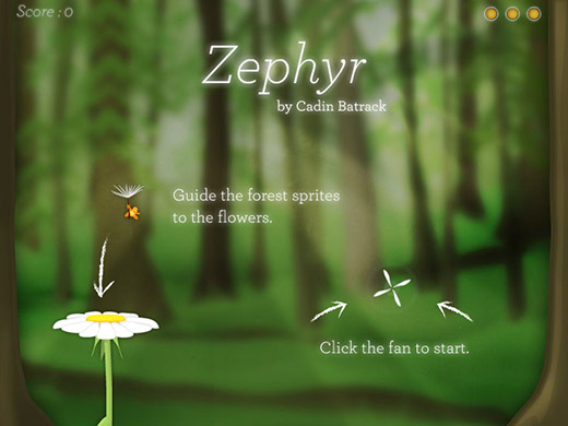 Zephyr Title Screen